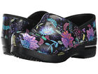 Dansko PROFESSIONAL WILDFLOWER PATENT Womens Leather Slip On Nurse Clog Shoes