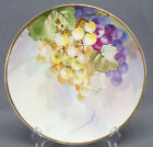 Nippon Morimura Hand Painted Purple & Green Grapes & Moriage Plate C. 1911 - 21