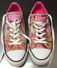 CONVERSE All Star Shoes FLOWER ROSE Size Mens 75 Womens 95
