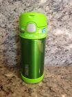 Thermos Funtainer 12oz Stainless Steel Straw Bottle Lime Brand New