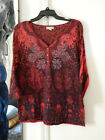 Live and let live top bling colorful countrygirl 3 4 sleeve worn size XL