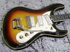 1960s VOX V241 Bulldog Sunburst Vintage Electric Guitar 6 strings w/HC