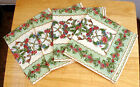 NWT Set of 4 April Cornell Napkins in Louisa 15.5 x 15.5