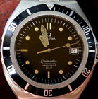 Vintage Omega Seamaster Stainless Steel Automatic Watch Blk Dial Blk Bezel