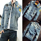 HOT Vintage Mens Retro Denim Cotton Jean Jacket Coat Outwear Denim Overcoat