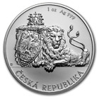 2018 Niue Czech Republic Lion 1 oz 999 Silver Very Limited Capsuled BU Coin