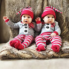 USA Christmas Baby Boy Girl Xmas Santa Jumpsuit One piece Romper Outfits Clothes
