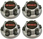 4pcs SILVER GMC Sierra Yukon Savana 6 Lug 1500 Center Caps 16 17 Wheels