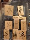 Stampin Up Assortment of Mounted Stamps Flowers Thank You New and Used