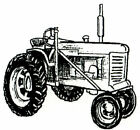 Fall Farm Tractor Wood Mounted Rubber Stamp NORTHWOODS C10304 New