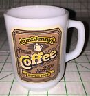 Vintage Anchor Hocking Milk Glass Aunt Jenny's Coffee Mug Cup