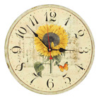 Decorative Wall Clock RELIAN 14 Inch Silent Non Ticking Vintage Wall Clocks for