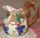 **FITZ & FLOYD AUTUMN LEAVES AND GRAPES WATER PITCHER**