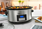 Stainless Steel Slow Cooker Crock Pot 8.5 quart Programmable Cookers Pots New