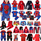 Spiderman Kids Baby Boy Hoodie Sweatshirt Jacket Top T shirt Pants Outfits Set