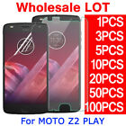 Tempered PET Soft Glass Screen Protector For Motorola Moto Z2 Play Droid LOT