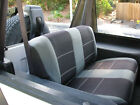 1987 1996 Jeep Wrangler custom rear neoprene seat covers Gray YJ88G