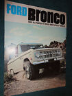 1968 FORD BRONCO SALES CATALOG FOLDER BROCHURE NICE ORIGINAL FOMOCO ITEM