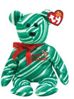 TY Beanie Baby - 2007 HOLIDAY TEDDY Green Version