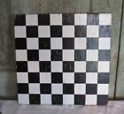 Old Painted Wood Wooden Checkers Chess Game Board GAMEBOARD Black
