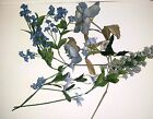 Assorted Blue Silk Flowers Lot Vintage to Now