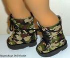Military Fatigue Army Camo Lace Up Tall Boots Fits 18 American Girl Boy Doll