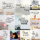 Family Kitchen Quote Wall Sticker Bedroom Vinyl Decal Home Decor Removable Mural
