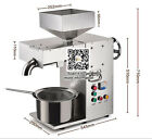 30kg/h Commercial automatic hot and cold oil press machine with temperature