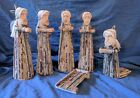 Ten Thousand Villages Unique Newspaper Nativity Handmade Navtivity