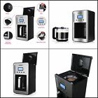 Coffee Maker LCD Display Programmable 12 Cup Automatic Shut Off Removable Black