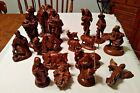 Large Nativity Figures 17 Pieces Brown Ceramic 5 75 Kings Camels Angel