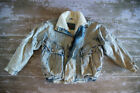 Vintage 80s Red Sky Sherpa Lined Puffy Acid Wash Jean Jacket Mens Size S