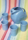 Periwinkle Blue Fiesta Pitcher & 4 Tumblers Special 60th Anniversary Ed.1996 MIB