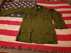 Vietnam Era US Army/USMC Rip-Stop OG-107 Tropical Combat Coat Shirt - Small/Long