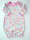 Boutique Zutano Itzy Bitzy Pink Owl Layette Gown 3M NEW