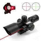 25 10x40 EG Riflescope Red Green Dual Illuminated MilDot Red Laser Sight Mount