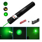 303 Green Pointer Laser Pen Adjustable Focus 532nm Light Beam + Battery Charger