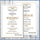 10 x WEDDING DAY EVENING INVITATIONS CARDS PERSONALISED INVITES WITH ENVELOPES