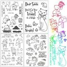 Cute Pet Series Transparent Rubber Stamp Seal Album Craft Scrapbooking YU