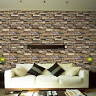 Wall Paper 3D Brick Stone Rustic Effect Self adhesive Wall Sticker Home Decor AU