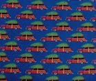SNUGGLE FLANNELWOODY STATION WAGON w CHRISTMAS TREE100 Cotton NEW BTY