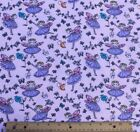 SNUGGLE FLANNELPINK  LAVENDER FAIRIES on PINK100 Cotton  NEW BTY