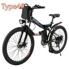 5type Foldable Electric Mountain Bike Bicycle Ebike W Lithium Battery 250W 36V