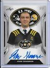 John Shannon 2016 Leaf US Army Blank Back White Tour Auto 2 2 - NOTRE DAME