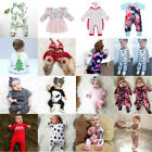 US Stock Toddler Baby Boy Girl Kids Romper Bodysuit Jumpsuit Outfits Clothes Set