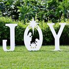 Teak Isle Christmas Joy Nativity Yard Sign Outdoor Garden Christmas Decoration