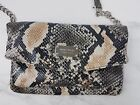 Nine west tunnel crossbody bag snake skin pattern white black gray beige 49
