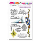 NAUTICAL ANCHOR Sayings CLEAR Unmounted Rubber Stamp Set STAMPENDOUS SSC1261 New