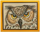 OWL Halloween Owl Eyes Wood Mounted Rubber Stamp STAMPENDOUS R268 New