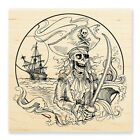 PIRATE COVE Halloween Wood Mounted Rubber Stamp STAMPENDOUS W187 N
